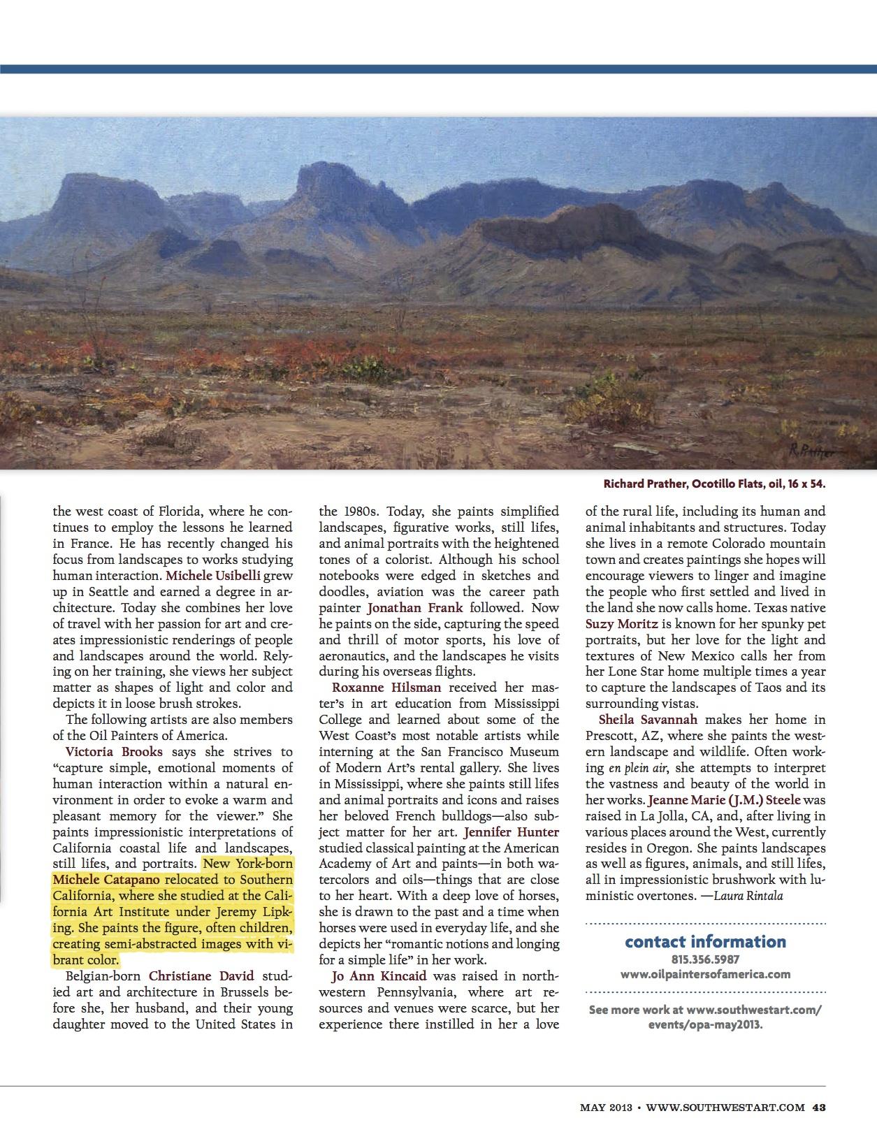 Southwest Magazine article copy
